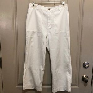 Chico's White Ankle/Crop Pants (Sz 1)